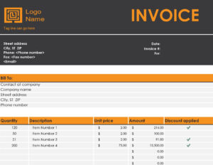 Invoices – Office with Commercial Invoice Template Word Doc