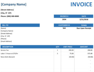 Invoices – Office within Free Downloadable Invoice Template For Word