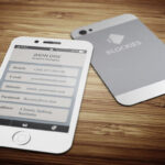 Iphone 6 (35% Off) Business Cardjigsawlab On regarding Iphone Business Card Template