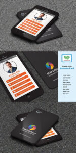Iphone Stylish Business Card Templates Psd | Business Card for Iphone Business Card Template
