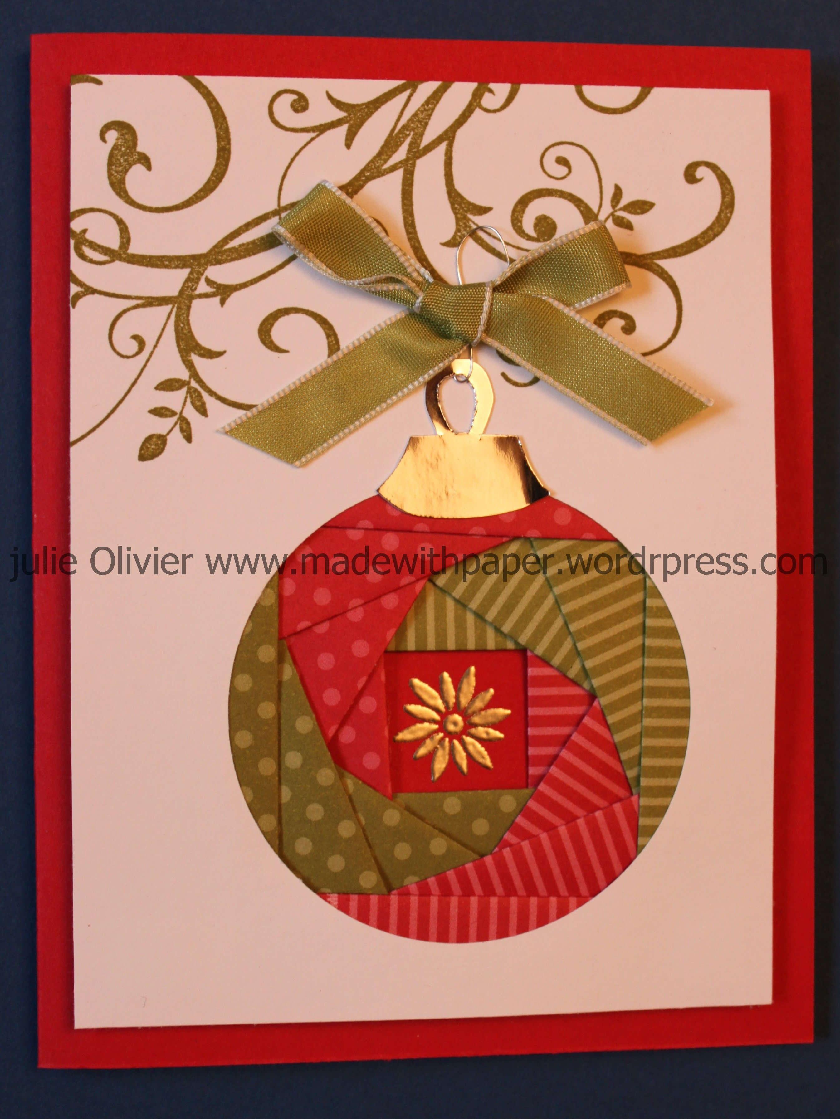 Iris Folding: Christmas Ornament | Cards - Iris Folding For Iris Folding Christmas Cards Templates