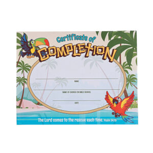 Island Vbs Certificates Of Completion | Stuff I Designed For intended for Free Vbs Certificate Templates