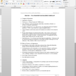 It Outsource Due Diligence Checklist Template | Itad109 1 Regarding Vendor Due Diligence Report Template