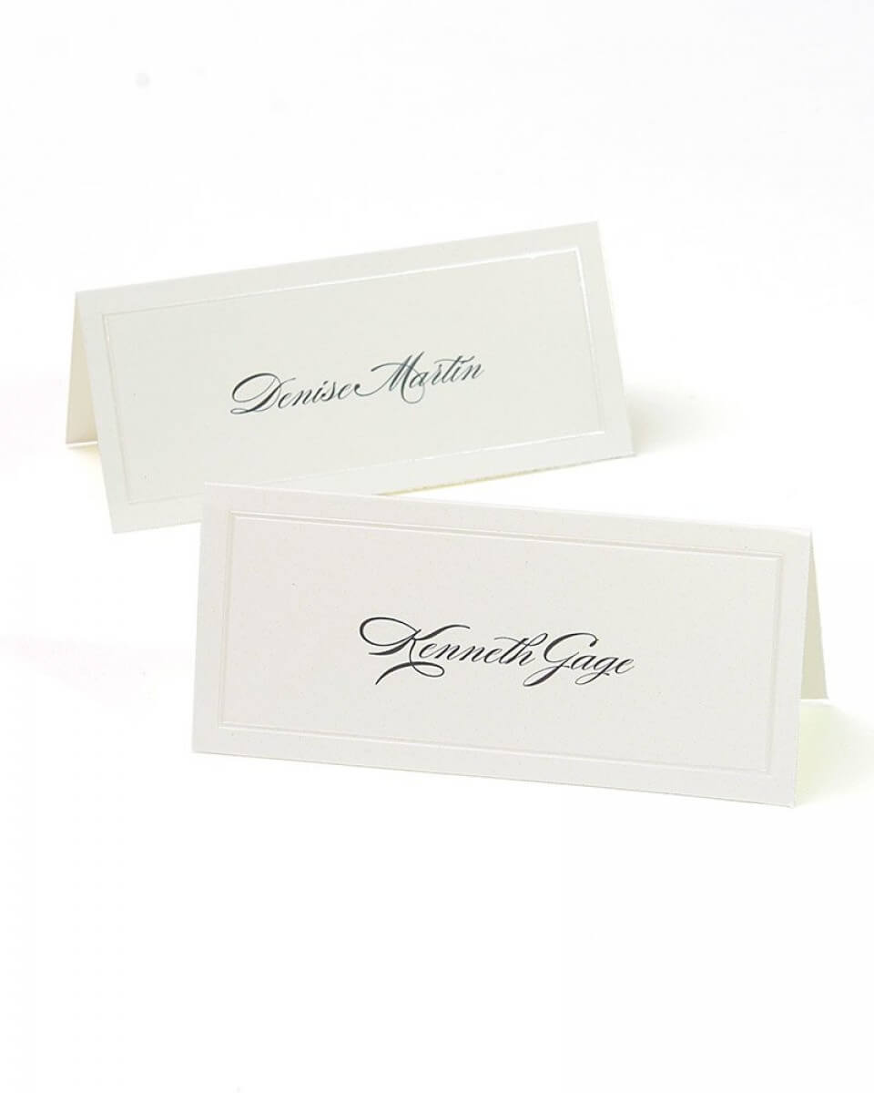 Ivory Pearl Border Printable Place Cards Throughout Gartner Studios Place Cards Template