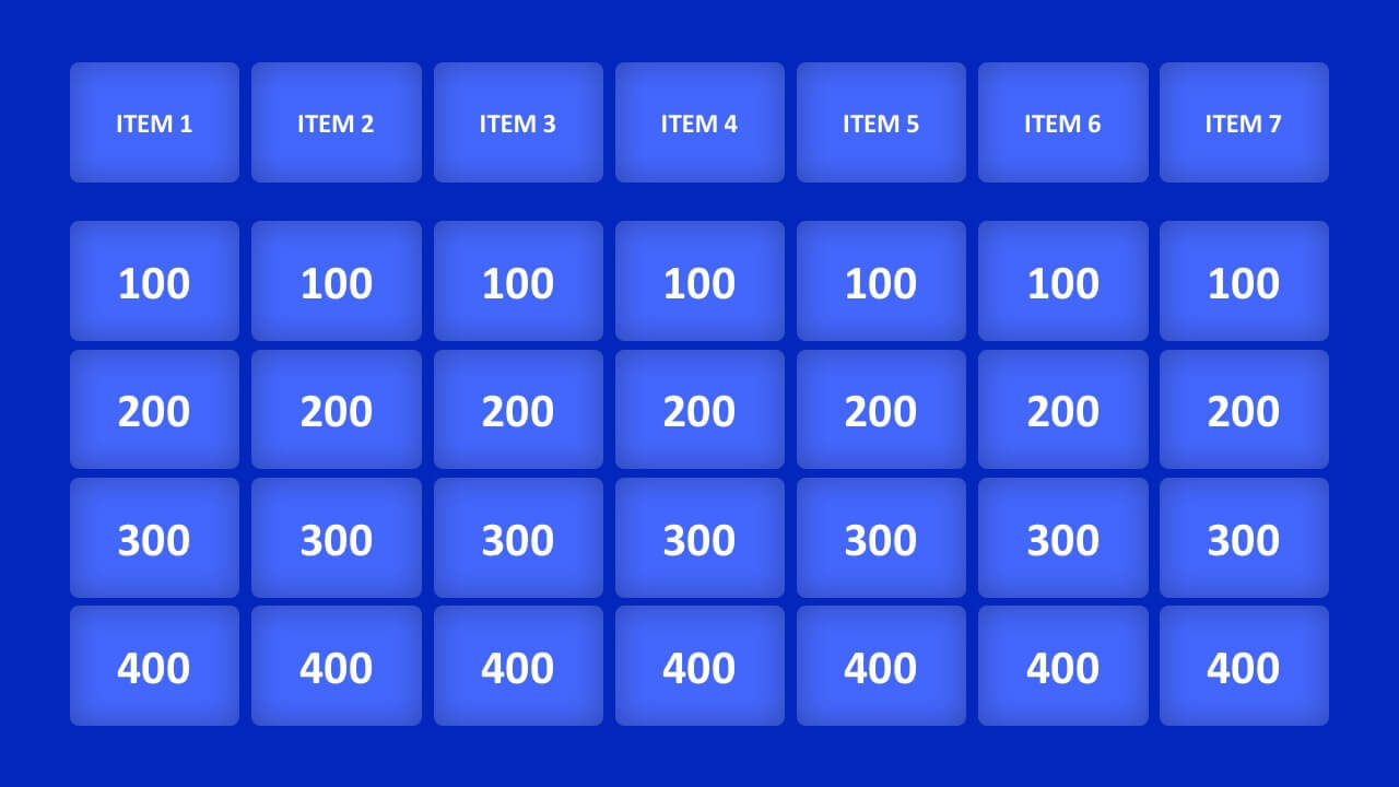 Jeopardy Game Powerpoint Templates For Quiz Show Template Powerpoint