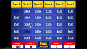Jeopardy Powerpoint Template throughout Jeopardy Powerpoint Template With Score
