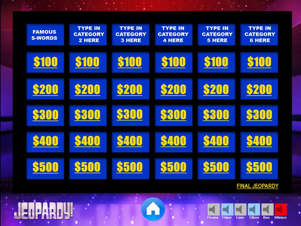 Jeopardy Powerpoint Template With Music | Games | Jeopardy Intended For Quiz Show Template Powerpoint