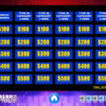 Jeopardy Powerpoint Template With Music | Games | Jeopardy Within Trivia Powerpoint Template
