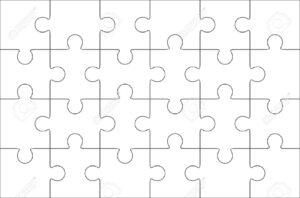 Jigsaw Puzzle Blank Template 6X4 Elements, Twenty Four Puzzle.. throughout Blank Jigsaw Piece Template