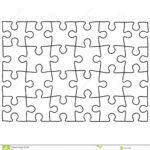 Jigsaw Puzzle Template For Word