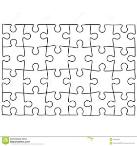 Jigsaw Puzzle Design Template | Free Puzzle Templates in Jigsaw Puzzle Template For Word