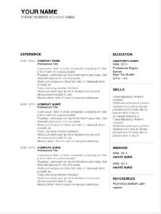 Job Winning Resume Templates For Microsoft Word & Apple Pages intended for Microsoft Word Resumes Templates