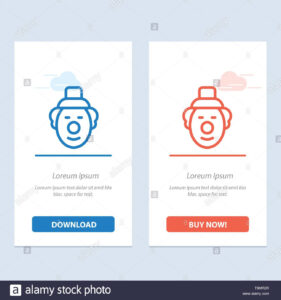 Joker, Clown, Circus Blue And Red Download And Buy Now Web throughout Joker Card Template