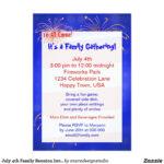 July 4Th Family Reunion Invitation | Zazzle | Family With Reunion Invitation Card Templates