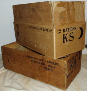 K Ration Crate With Original Carboard Box | Usmc Field C&k with Usmc Meal Card Template