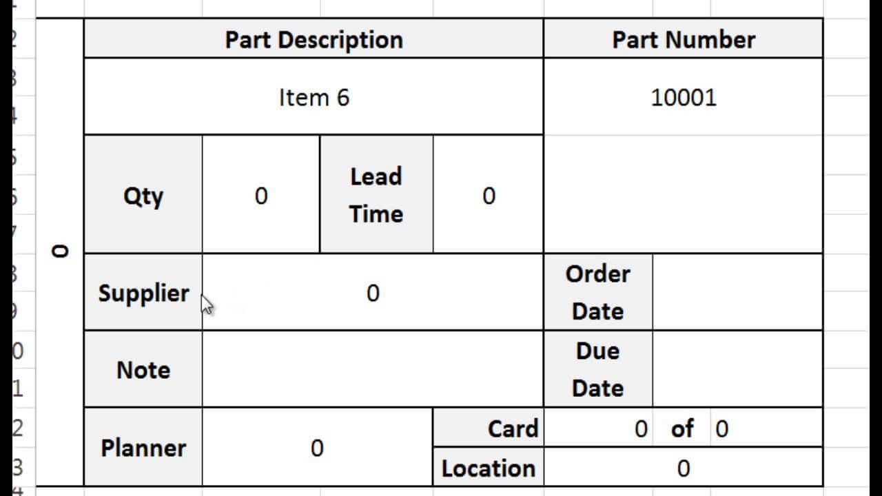 Kanban Card Template – Tutorial, Video, And Download Regarding Kanban Card Template