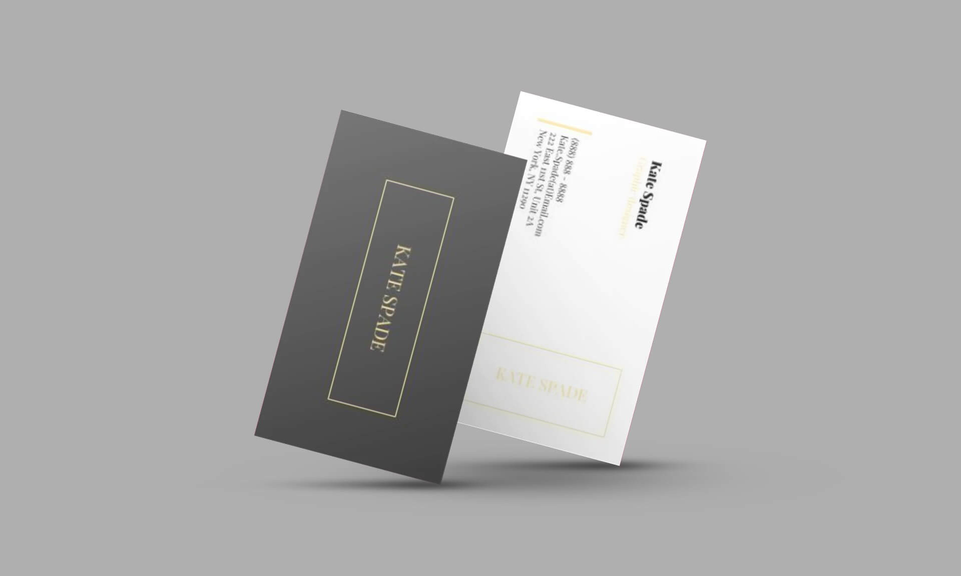 Kate Spade Business Card Template For Google Docs - Stand In Google Docs Business Card Template