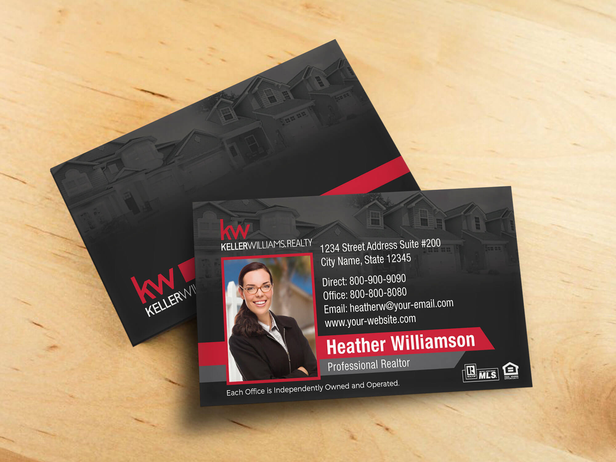 Keller Williams Business Card Template – Bc1861Bl Kw Throughout Keller Williams Business Card Templates