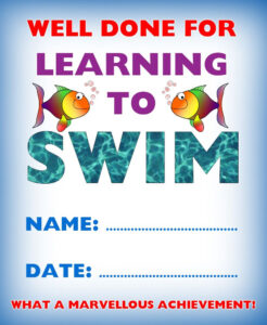 Kids Certificate For Learning To Swim | Swim | Learn To Swim pertaining to Swimming Award Certificate Template