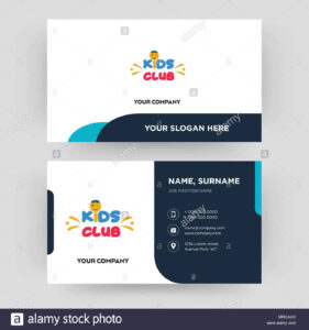 Kids Club, Business Card Design Template, Visiting For Your inside Id Card Template For Kids