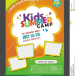 Kids Summer Camp Banner Poster Design Template For Kids Pertaining To Summer Camp Brochure Template Free Download