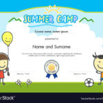 Kids Summer Camp Certificate Document Template pertaining to Summer Camp Certificate Template
