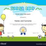 Kids Summer Camp Certificate Document Template Pertaining To Summer Camp Certificate Template