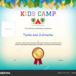 Kids Summer Camp Diploma Or Certificate Template Award Intended For Summer Camp Certificate Template