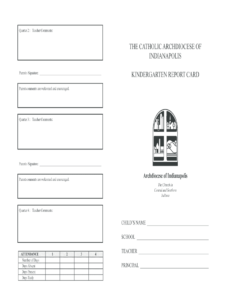 Kindergarten Report Card Template – Fill Online, Printable throughout Kindergarten Report Card Template