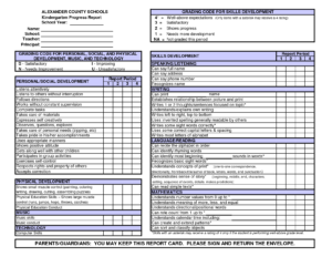 Kindergarten Report Card Template Free Preschool Conference intended for Soccer Report Card Template
