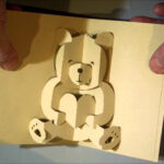 Kirigami Bear Pop Up Card In Teddy Bear Pop Up Card Template Free