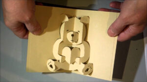 Kirigami Bear Pop Up Card in Teddy Bear Pop Up Card Template Free