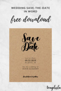 Kraft Black Wedding Save-The-Date Template In 2019 | Diy within Save The Date Template Word