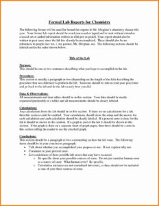 Lab Report Example – Lab Reports Ought To Be Meticulous. In pertaining to Formal Lab Report Template