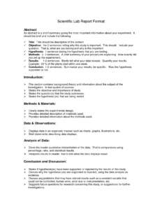 Lab Report Format Doc   Environmental Science Lessons   Lab intended for Science Experiment Report Template