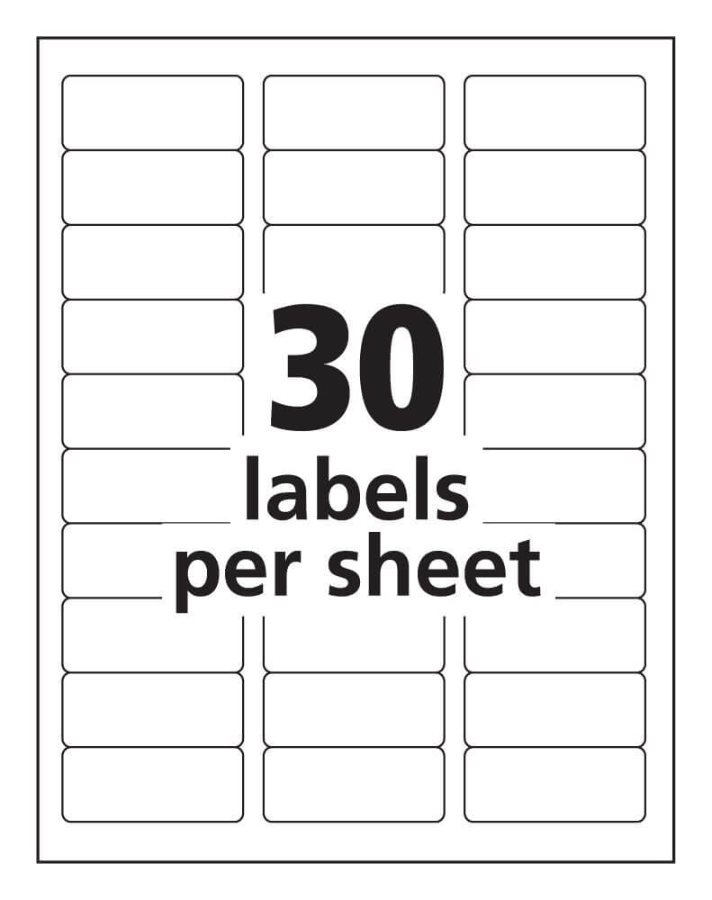 Label Templates 30 Per Sheet – Hizir.kaptanband.co With Regard To Label Template 21 Per Sheet Word