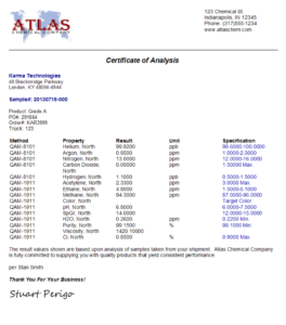 Labsoft Lims Certificates Of Analysis (Coa) Management throughout Certificate Of Analysis Template