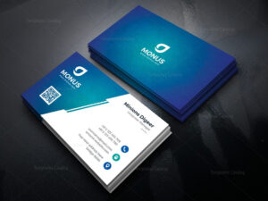 Lagoon Professional Corporate Business Card Template 000946 for Professional Name Card Template