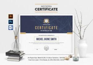 Landscape Certificate Template 000508 | Certificates for Landscape Certificate Templates