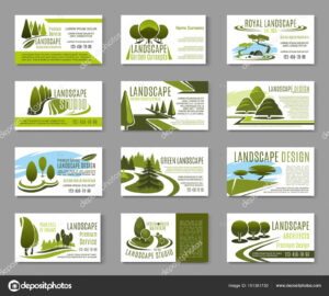 Landscape Design Business Cards | Landscape Design Studio within Gardening Business Cards Templates