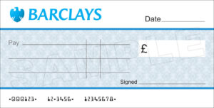 Large Blank Barclays Bank Cheque For Charity / Presentation inside Large Blank Cheque Template