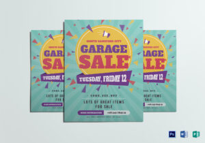 Large Garage Sale Flyer Template within Garage Sale Flyer Template Word