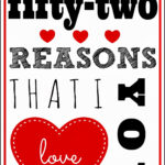 Larissa Another Day: 52 Reasons I Love You Printable (A Intended For 52 Reasons Why I Love You Cards Templates