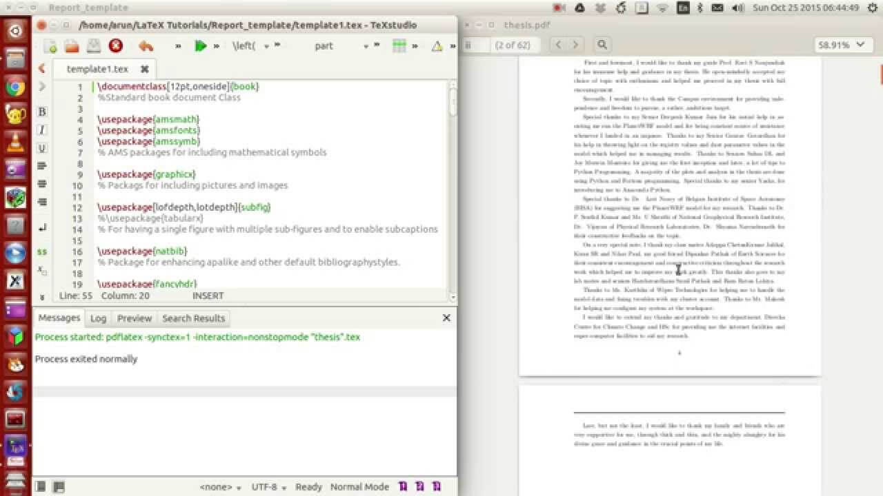 Latex Programming : 053 : Making Your Own Thesis/report Template Part 1 Of 4 Inside Latex Technical Report Template