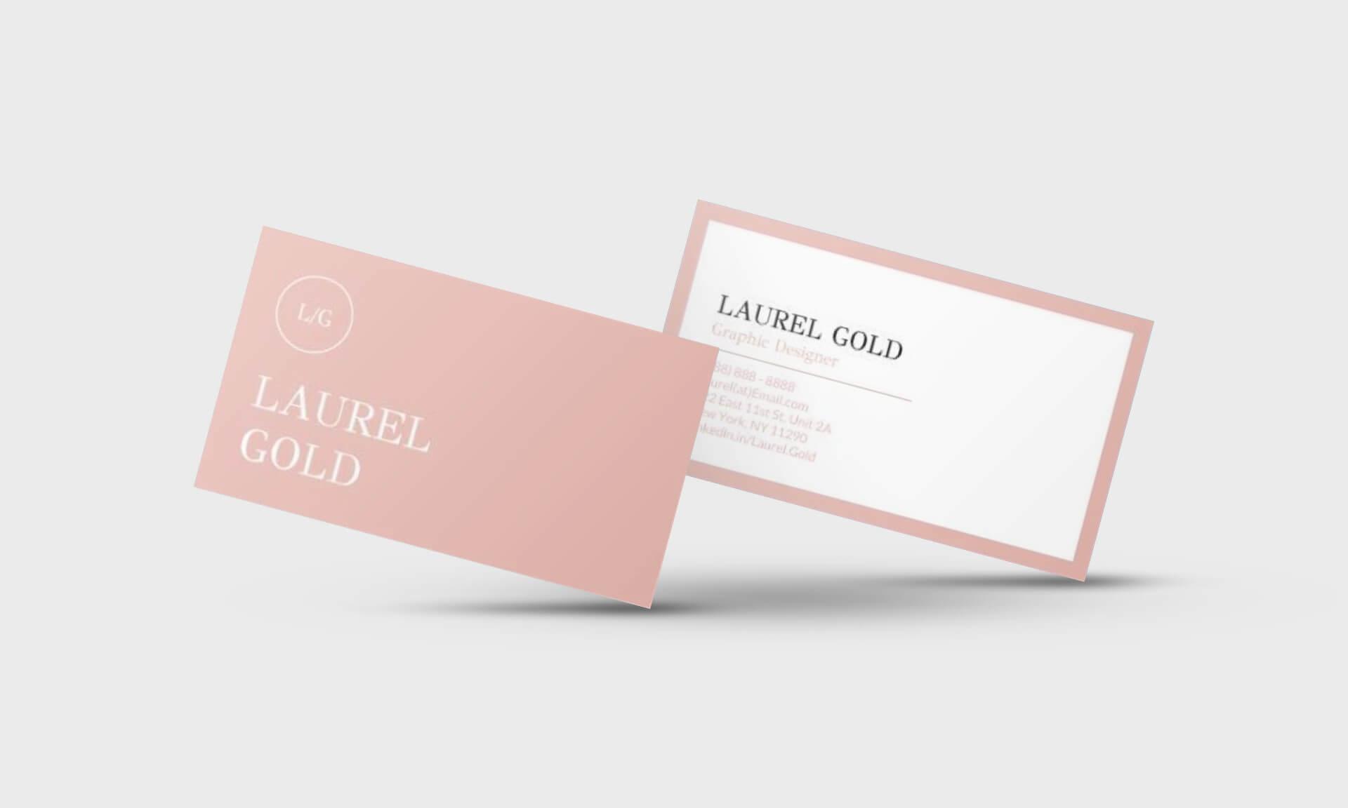 Laurel Gold Google Docs Business Card Template - Stand Out Shop In Business Card Template For Google Docs