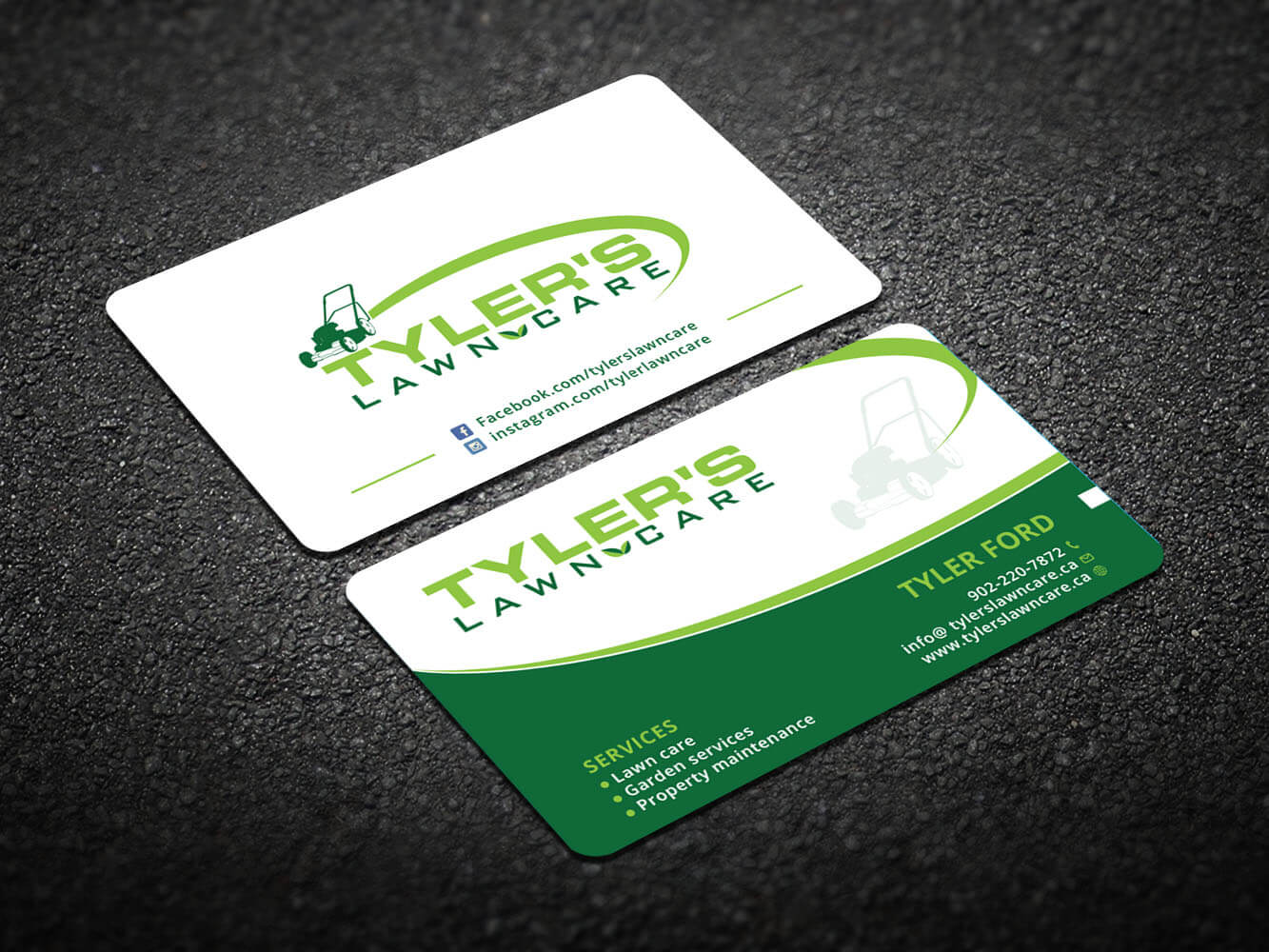 Lawn Care Business Cards Templates Tags Contractor