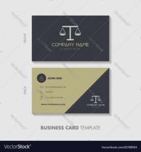 Lawyer Business Card Template Design within Legal Business Cards Templates Free