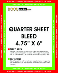 Learn About Printing Your Next Project With Bleeds. Regarding Quarter Sheet Flyer Template Word