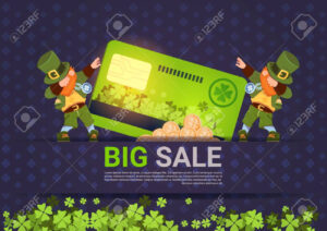 Leprechuns Hold Credit Card Sale For St. Patricks Day Holiday.. for Credit Card Templates For Sale