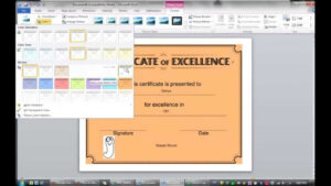Lesson 2: Learning How To Make Certificate (Ms Word 2010) within Word 2013 Certificate Template